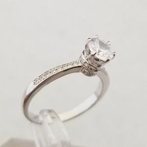 Sterling 1.25ct TW Solitaire